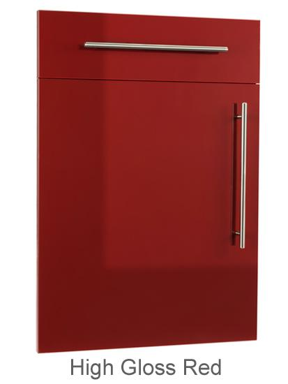 Ref 1102 acrylic high gloss red acrylic high gloss for Red high gloss kitchen doors
